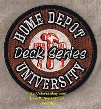 "LMH PATCH Badge  HOME DEPOT UNIVERSITY  Home Education Workshop  DECK SERIES  3"""
