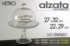 ALZATA CON COPERCHIO TRASPARENTE IN VETRO 27X32 CM NOL-596933
