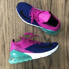A1062G Nike Air Max 270 Flyknit AO1023-401 Mens Sneakers Size 9.5 NEW