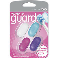 Go Travel Antibacterial Brush Shields Multi- Colored 4 Pack 441