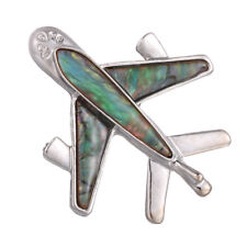 Airplane Aircraft Plane Brooch Pin Shell Shirt Collar Lapel Jewelry Gift Rahn