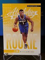 2019-20 Panini Absolute Memorabilia #16 Zion Williamson Yellow Rookie Pelicans