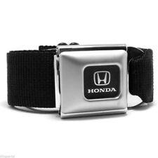 Honda Logo Official Licensed Black Authentic Belt Seat Belt Style Buckle Down