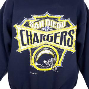 San Diego Chargers Sweatshirt Vintage 90s NFL Football Crewneck Size Large