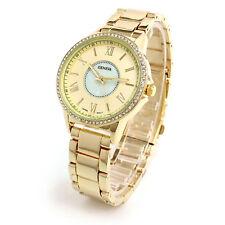 Gold Crystal MOP Dial Roman Hours Women's Fancy Bracelet Watch