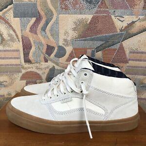 Vans Cream Off White Bedford Canvas Suede Marsh Gum Sole Skate Shoes Sz M8.5 W10