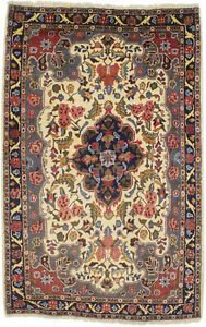 Classic Floral Design Vintage 3X5 Oriental Rug Hand-Knotted Small Decor Carpet
