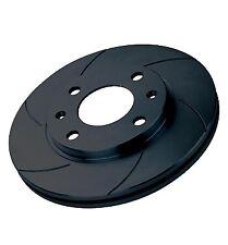 Black Diamond 6 Groove Front Brake Discs for Citroen C8 3.0 V6 (02 on)