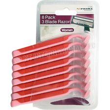 8 PACK TRIPLE BLADE  RAZORS DISPOSABLE FIX HEAD BLADE SHAVING RAZORS NEW