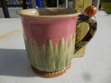 Vintage Nouveau Majolica Coffee Tea Cup Mug Wan Jiang SNAIL Garden Fern 1991