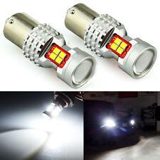 2pcs White 1156 High Power 3020 SMD LED Turn Signal Reverse Blinker Lights Bulbs