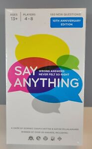 New Say Anything 10th Anniversary Edition Board Game New & Sealed In Box NIB