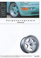 Prospekt TechArt Felgen Programm Fittipaldi Design Porsche 2 94 993 964 928 1994