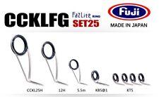 FUJI Fazlite ring CCKLFG KB5 SET Casting Rod Guides SET25