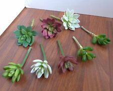 8 Artificial Succulent Plants Lifelike Grasses