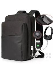BISON DENIM USB Charging Men Backpack Leisure Travel Backpack