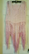 EThOS pink fringed S skirt & top 2 piece coctail MOB MOG DRESS NWT $100 off