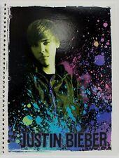 Justin Bieber Splash - SPIRAL NOTEBOOK 2011 - 70 Wide Ruled Sheets  - NEW
