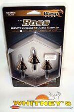 Wasp Archery-The BOSS Broadheads-100 Grain-3Blade-#3100