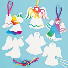 Vendita! 8 Xmas Angel Scratch Art da appendere decorazioni Kids attività Fare Craft