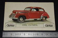 CHROMO 1950-1959 CHOCOLAT CEMOI DECOUPAGE AUTOMOBILE AUTO OPEL OLYMPIA