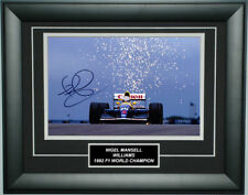 Nigel Mansell Signed 8X12 Inches Williams Photo Frame