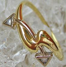 ✨Nice✨Brilliant Ring in aus 585 Gold mit Brillant Schmuck mit Brillanten Diamant
