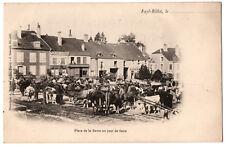 CPA 52 - FAYL-BILLOT (Haute Marne) - Place de la Barre un jour de foire- DND