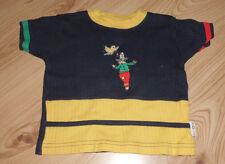 Blauer Pullover mit gelben, roten und grünen Streifen - Größe 74