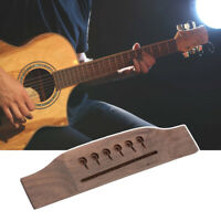 6 String Rosewood Saddle Thru Guitar Bridge For Martin Style Acoustic Guitar