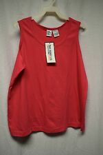 Womens Shirt Size XL By The Body Co Pink Tank Sleeveless Pull Over NWT