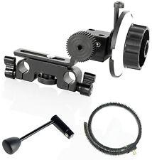 FILMCITY Follow Focus Gear Set for Nikon DSLR 5d 70d 600d Camera + Speed Crank