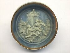 Vintage Incolay Stone Marie Antoinette 8� Shadow Box Wall Plaque