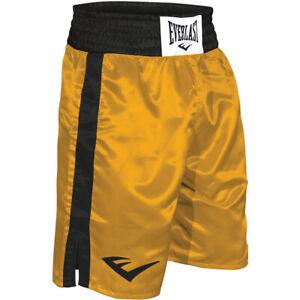 Everlast Standard Top of Knee Boxing Trunks - Gold/Black
