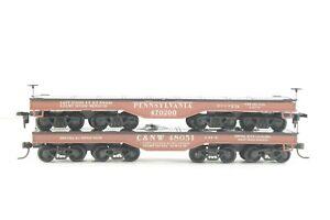 HO Athearn Pennsylvania / Chicago & Northwestern 50ft Heavy Duty Flat Cars