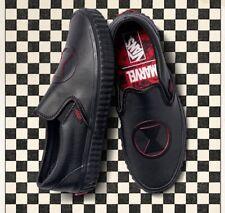 VANS X Marvel Classic Slip-on Black Widow Shoes VN0A38F7U7K NWB DS WMNS Sz 8