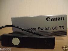 Pellicola IN SCATOLA ORIGINALE CANON FOTOCAMERA telecomando 60 ~ T3 con le istruzioni (23M13)