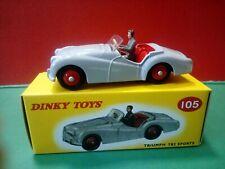 Modellino DIE CAST Dinky Toys Triumph TR2 Sorts 105 Grigio 1/43 1:43  ATLAS