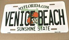 USA Florida Venice Beach Auto Nummernschild License Plate Deko Blechschild