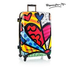 "Heys Romero Britto Luggage 30"" A New Day Fashion Hardside Spinner Suitcase TSA"