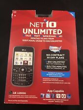 LG 900G Black (Net10) 2G GSM Cellular Phone - Brand New Factory Sealed NIB