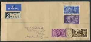 OLYMPIC GAMES LONDON 1948 - REGISTERED COVER TO AUSTRALIA ON DAY OF ISSUE