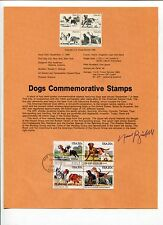 Norman Bridwell Clifford Big Red Dog Author Signed Autograph FDC Stamp Sheet