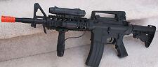 High End M4 Airsoft Spring Rifle W/Laser, Flashlight, High Cap. Mag. ADJ Hop-up