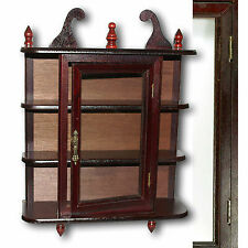 Wall cabinet Display case Seed box Mahogany colours Wood Glass window 2'te