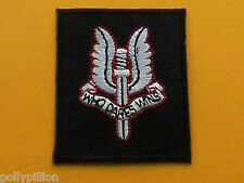 MILITARY SPECIAL FORCES SEW ON / IRON ON PATCH:- S.A.S. SPECIAL AIR SERVICE (b)