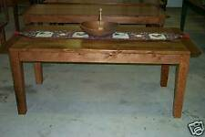 Antique Oak Harvest/Dining Table Rustic Primitive Farmhouse Reclaimed Salvaged