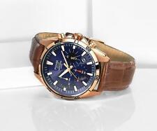 Pulsar Solar Herren Armbanduhr Chronograph Edelstahl Leder Armband PZ5062X1
