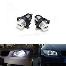 2x BMW E90 E91 3 Series Angel Eye Halo Ring LED Light 6w Marker Bulb Xenon White