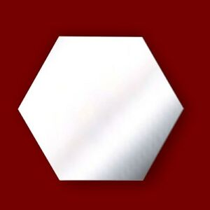 Wall HEXAGON Acrylic Bathroom Mirror *No Drilling Required* Personalised 4 FREE